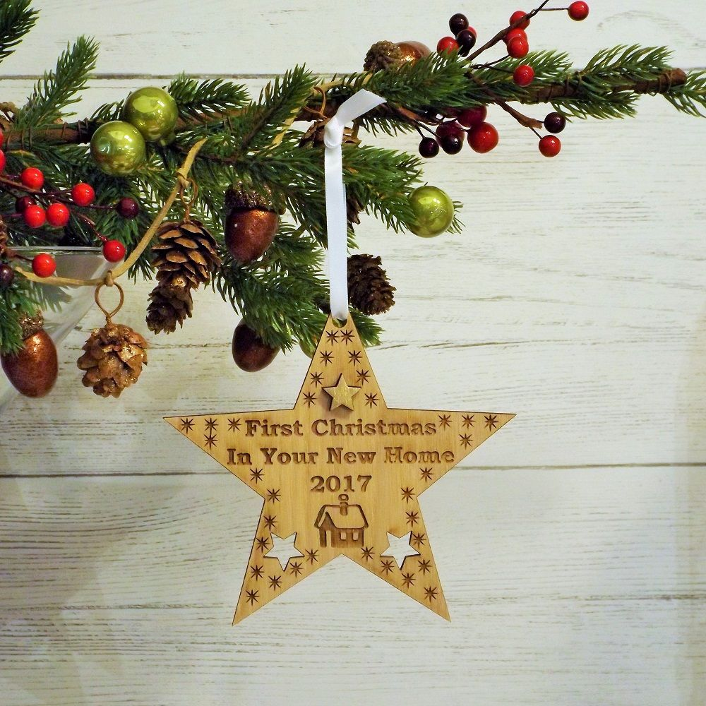 First 1st Christmas in Your New Home Star Decoration Housewarming ...